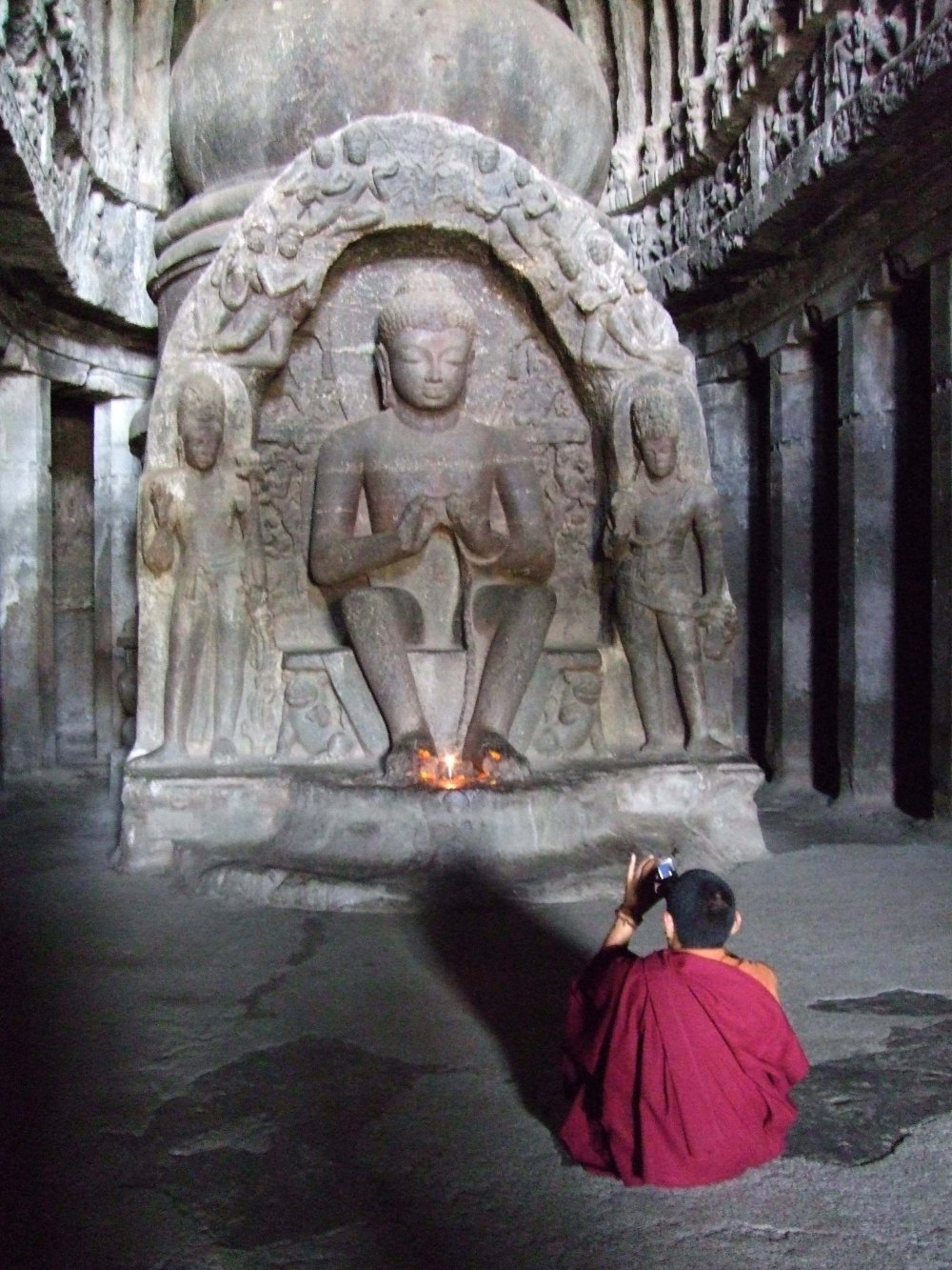 Monk with camera