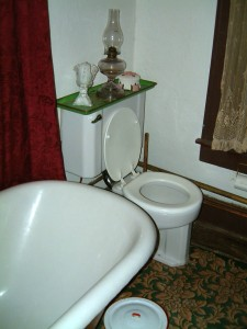 the first flush toilet in San Angelo 1