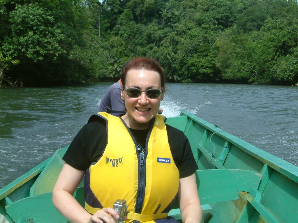 Up the Brunei River without a paddle