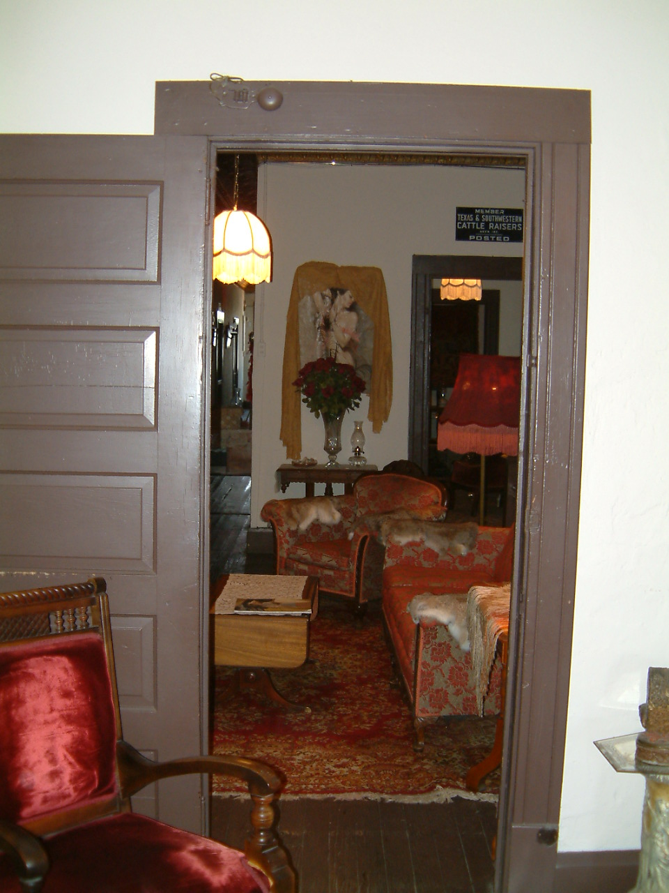 view into room